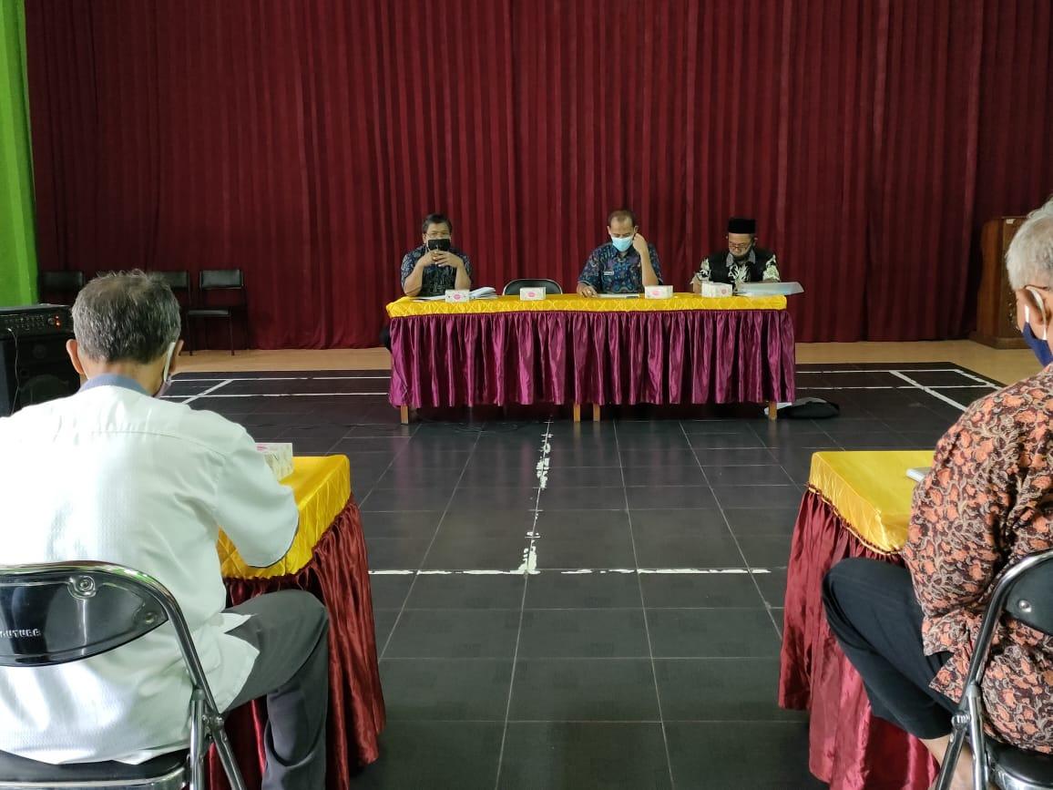 Rakor Persiapan Kegiatan Pembangunan Sarpras Kelurahan Cebongan TA 2021